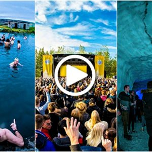 WATCH: This Music Festival Has A Stage Inside A Glacier And A Volcano!