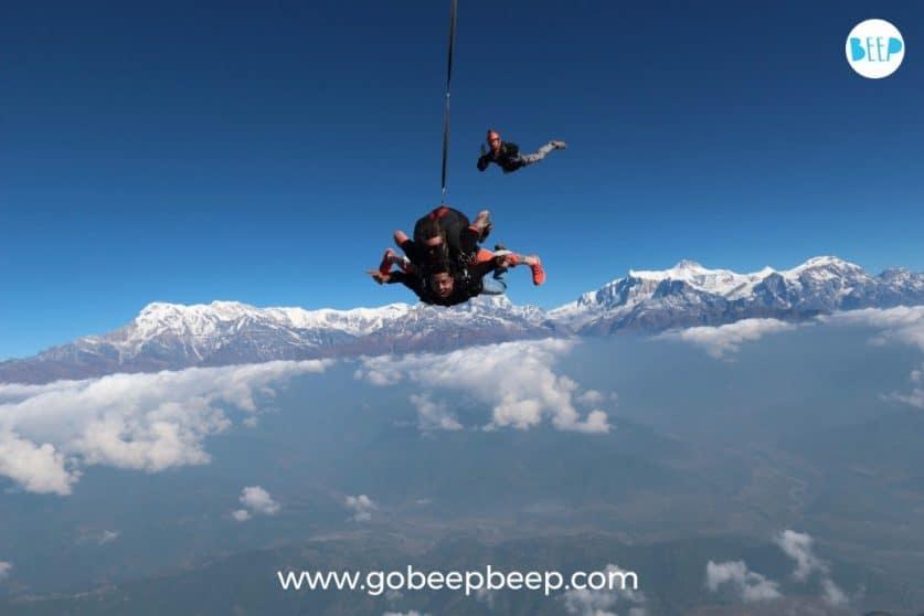 skydive in nepal himalayas
