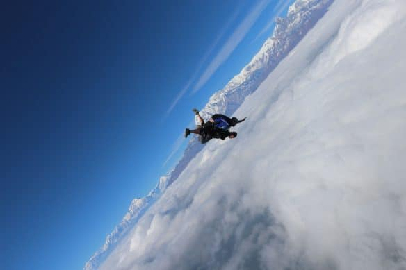 Chintan skydive in nepal with gobeepbeep