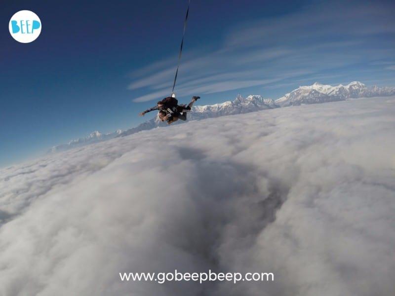 Nepal Skydive pokhara organized by gobeepbeep