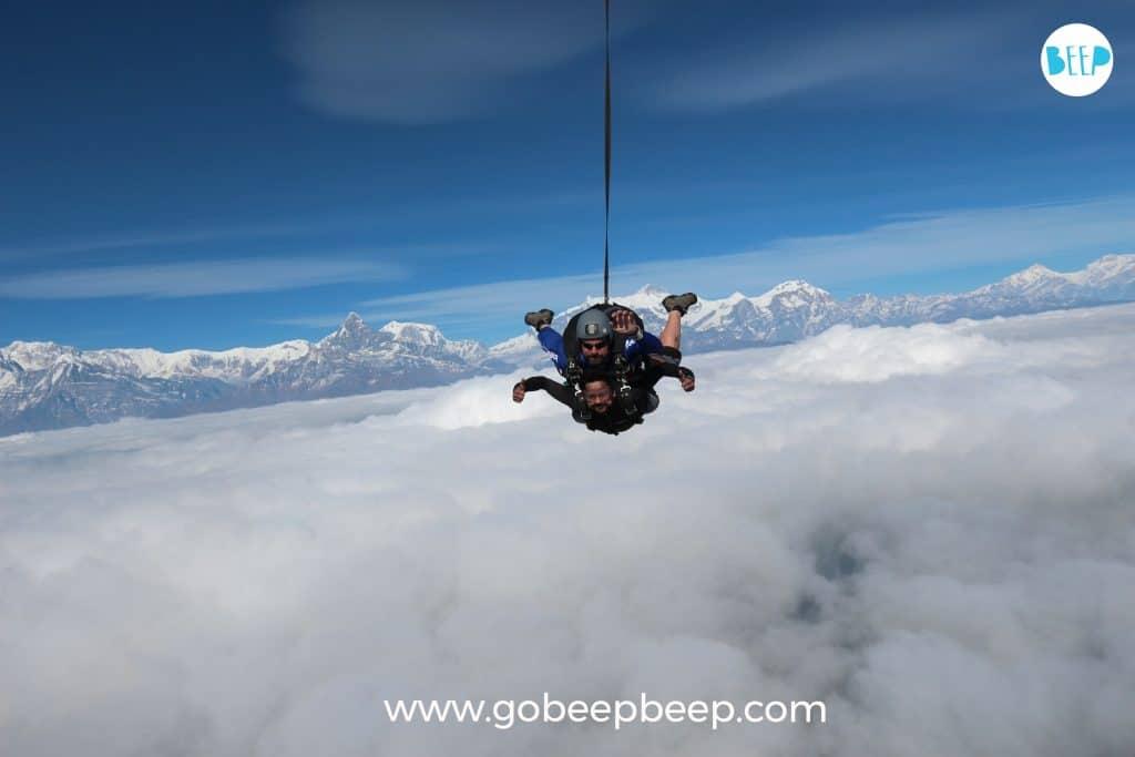 skydiving near india with gobeepbeep